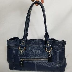 Coach Penelope Pebble Leather Tote Shoulder Bag